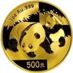 Panda d'or chinois